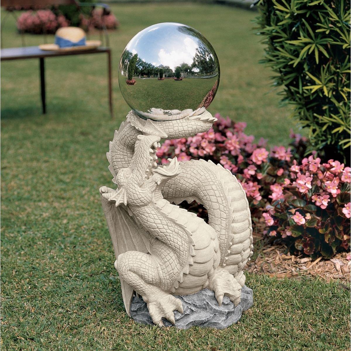 Outdoor decor statues - 30 Classic Dragon Gargoyle Home Garden Statue Sculpture Figurine With Shinin