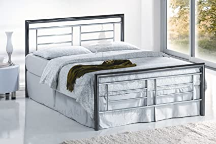 MODERN STYLE CHROME AND NICKEL FINISHED MONTANA 4FT6 OR 5FT BED FROM CENTURION PINE (5FT KING)