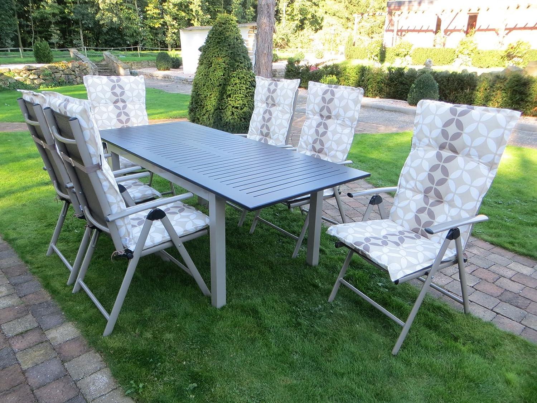 13-teilige Luxus Aluminium Textilen Gartenmöbelgruppe
