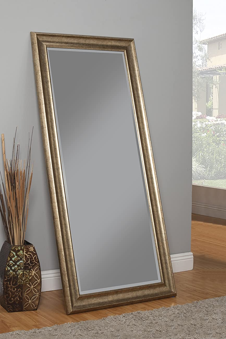 Sandberg Furniture 14111 Full Length Leaner Mirror Frame, Antique Gold 2