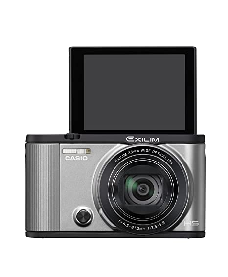 CASIO digital camera EXILIM EX-ZR1600SR SELF PORTRAIT tilt LCD front shutter Wi-Fi / Bluetooth equipped with Silver