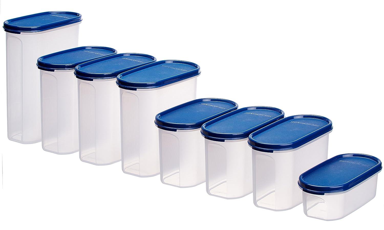 signoraware organise your kitchen set 8 pieces mod blue