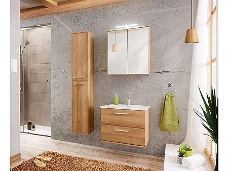 mobili da bagno REMIK Riviera rovere in simil legno, medio PARTE CON ARMADIO 60cm