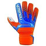 Reusch Soccer Prisma SG Finger Support Goalkeeper Gloves Orange/Blue, 10 (Color: Orange/Blue, Tamaño: 10)