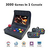 Anbernic Handheld Game Console , Retro Game Console 4.3 Inch 3000 Classic Game Player with 2PCS Joystick , TV Output Portable Video Game Console - Transparent Black (Color: Transparent Black)