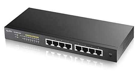 Zyxel ZY-GS19008HP Switch web administrable avec 8 ports Gigabit PoE Noir