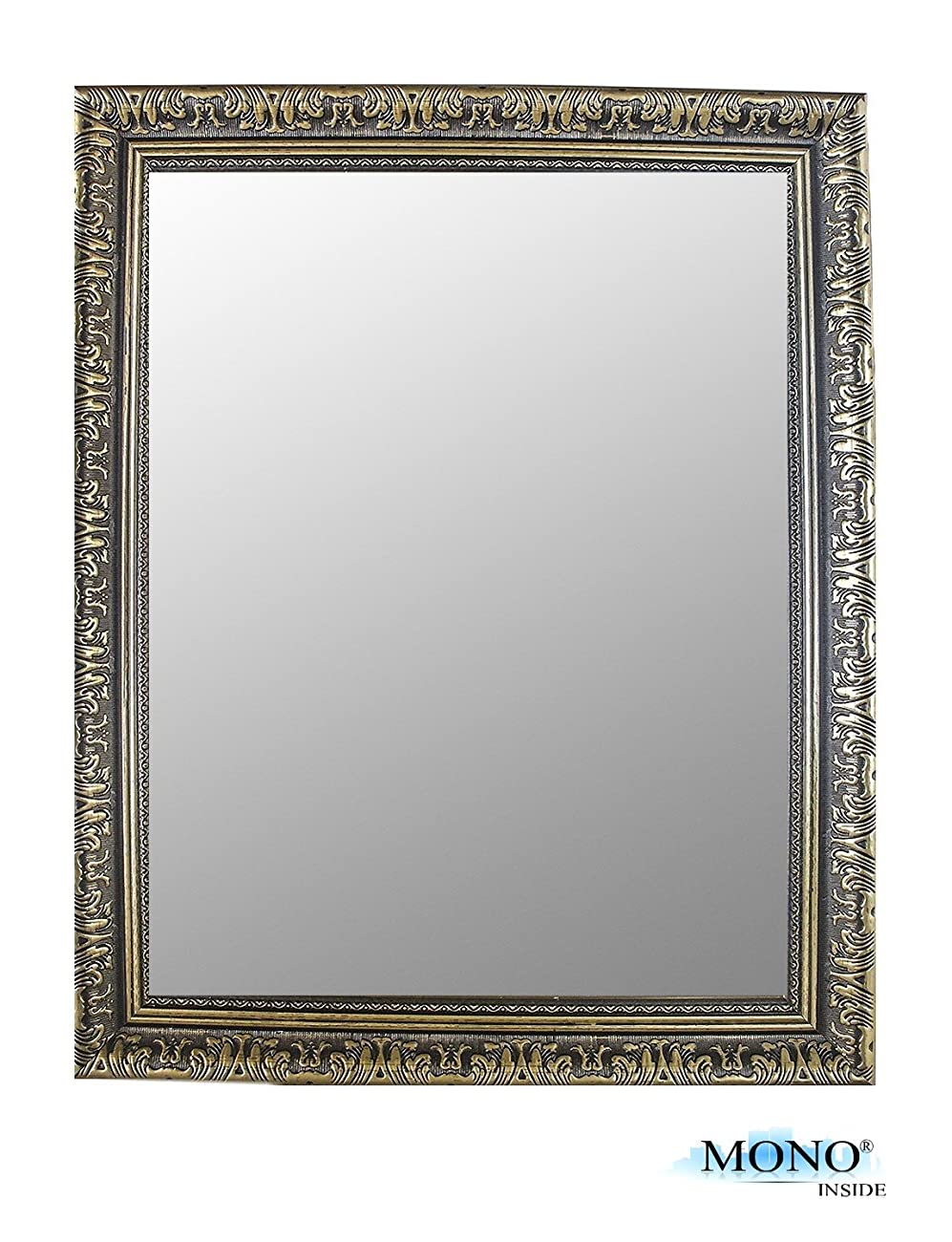 MONOINSIDE® Classic, Antique & Vintage, Rectangular Square Wall Of Mirror, Size 18