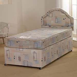 Deluxe Beds Ltd Superb Value 3ft Single Albi Divan Bed With Mattress   No Headboard   No Drawers       reviews and more information
