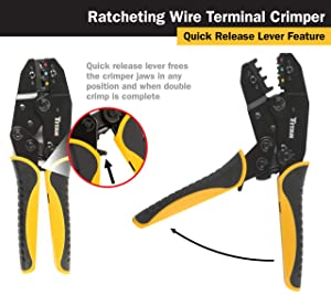 Titan Tools 11477 Ratcheting Wire Terminal Crimper (Tamaño: Fixed Jaw Crimper)