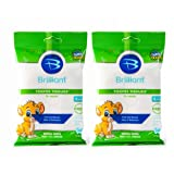 Brilliant Tooth Tissues with Xylitol - Bubble Gum Flavor Teeth Wipes for Babies and Toddlers - Kids Love Them, 60 Count (Color: White, Tamaño: 60 Count)