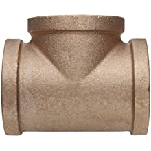 Lead Free Brass Pipe Fitting, Tee, Class 125, NPT Female