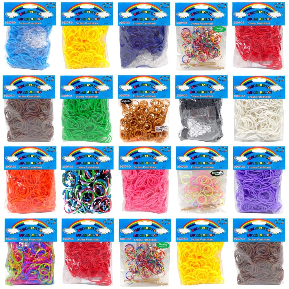 2400 Colourful Rainbow Rubber Loom Bands