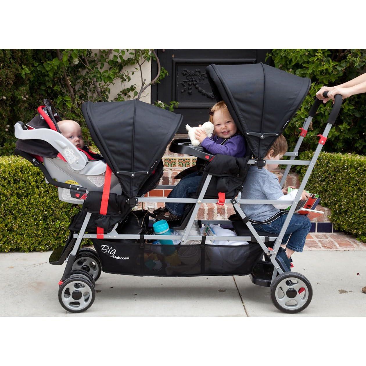 Stroller for 1-year old twins plus newborn? - BabyCenter