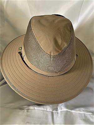 Khaki One Size Solar Escape Outback Mens UV Protection Hat