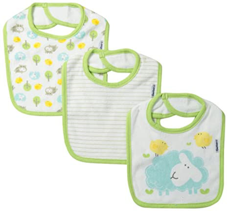 Amazon.com: Gerber Unisex-Baby Newborn 3 Pack Terry Hippo Dribbler Bib, Hippo Green, One Size: Clothing