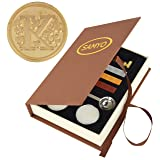 Stamp Seal Sealing Wax Vintage Classic Old-Fashioned Antique Alphabet Initial Letter Set Brass Color Creative Romantic Stamp Maker (K) (Color: K)