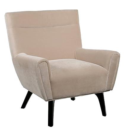 Abbyson Living Marquis Cream Microsuede Armchair