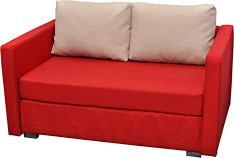 """VCM 2er Couch """"Engol"""" Rot"""