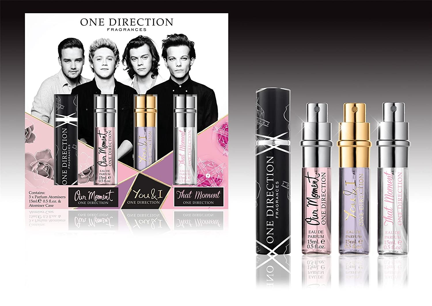 One Direction Perfume Atomiser 15ml x 3 2015 Gift Set