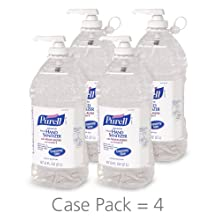 PURELL 9625-04 Advanced Instant Hand Sanitizer, 2 Liter Economy Size Pump Bottle (Case of 4)