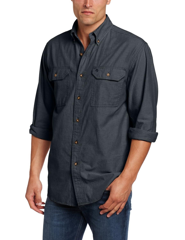 Carhartt men 39 s fort long sleeve shirt for Carhartt men s long sleeve lightweight cotton shirt