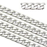 5ft Stainless Steel Figaro Chains Findings Fit for Jewelry Making &DIY (SC-1007-G) (Color: SC-1007-G)