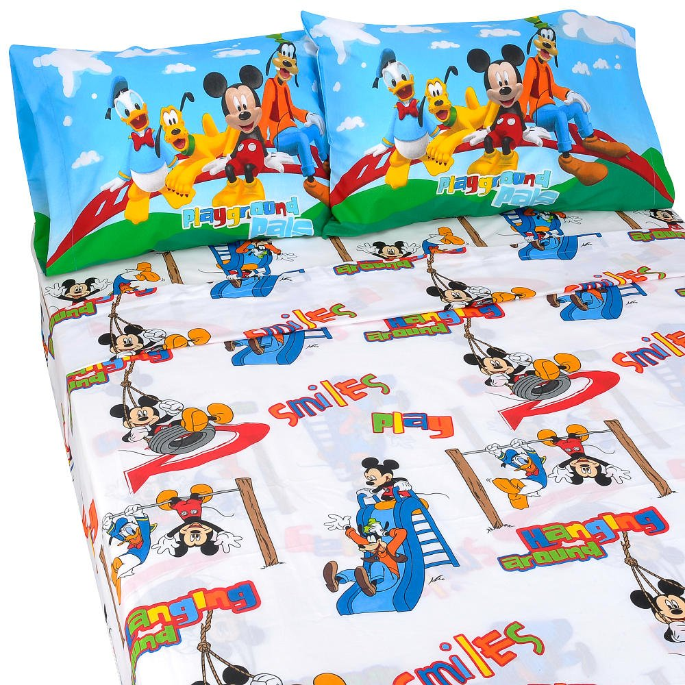 disney mickey mouse clubhouse 3 piece twin sheet set check price