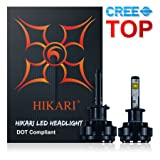 HIKARI LED Headlight Bulbs Conversion Kit -H1,CREE 9600lm 6K Cool White,2 Yr Warranty
