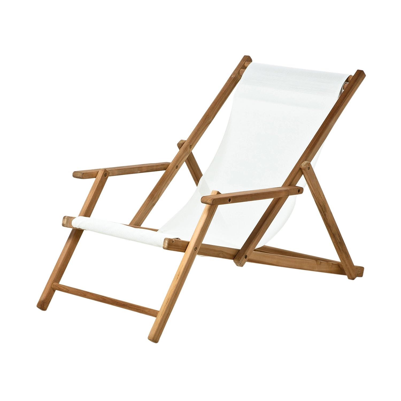 Deckchair Kunststoffgewebe weiß