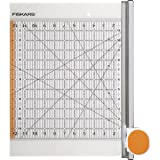 Fiskars Rotary Ruler Combo for Fabric Cutting, 12-Inch x 12-Inch (Tamaño: 12x12 Inches)