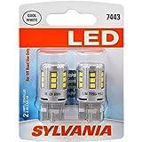 SYLVANIA 7443 T20 White LED Bulb, (Contains 2 Bulbs)