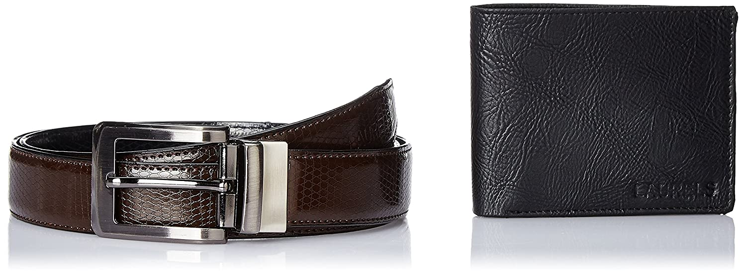 Laurels Men's Wallet And Belt (Combo)
