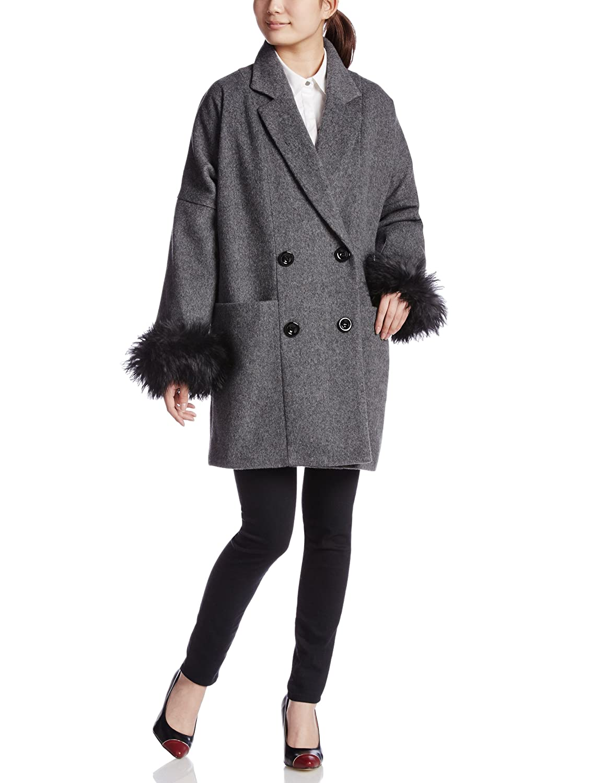 Amazon.co.jp: (ヴェロフォンナ)Re.Verofonna テーラーコクーンコート 5391016 2 BLACK 38: 服&ファッション小物通販