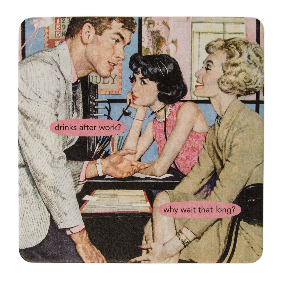 Anne Taintor18pc Drink Coasters Set For Drinks Glasses Funny Unique Quotes & Photos