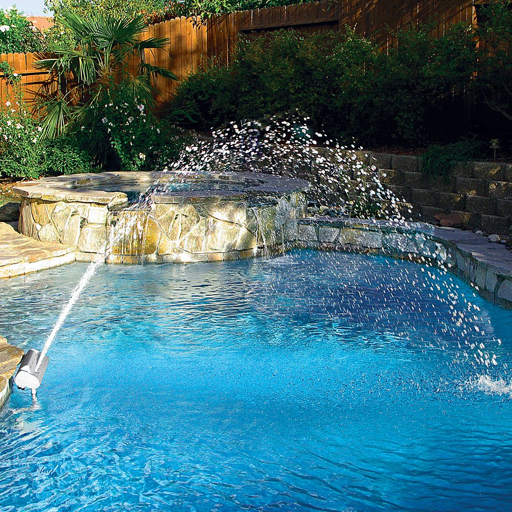 Swimming Pool Fountains : Color cascade waterfall swimming pool fountain led light