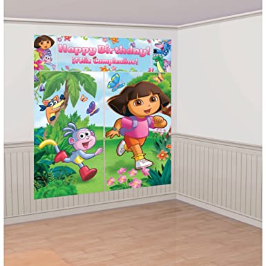 Dora the explorer wall decals tktb for Dora wall mural
