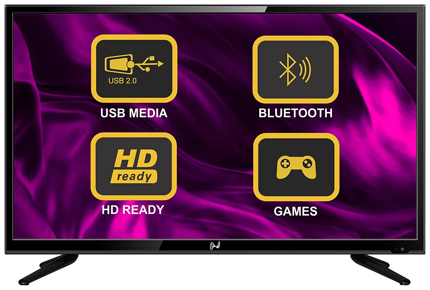 Noble SKIODO 32SM32N01 81cm (32 inches) HD Ready LED TV (Black)