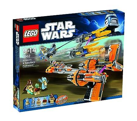 Lego Star Wars - 7962 - Jeu de Construction - Anakin's & Sebulba's Podracers