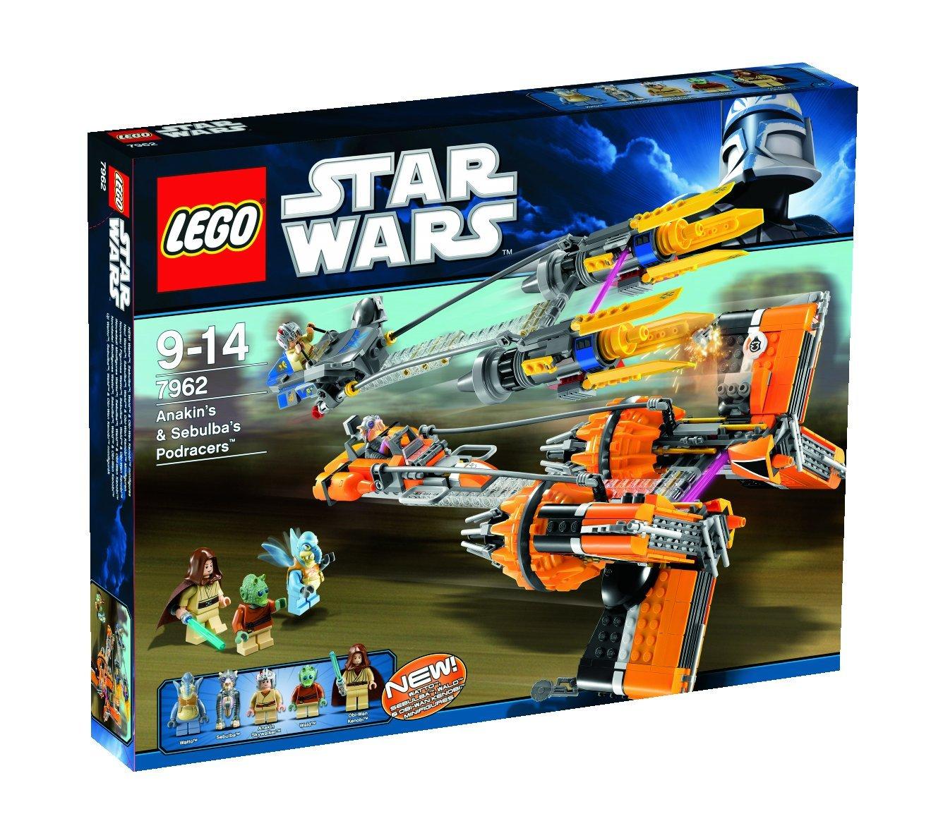amazon IT: LEGO Star Wars 7962 – Anakins & Sebulba's Podracers für nur 56,16€ inkl. Versand!