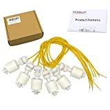 DerBlue 6 Pieces Liquid Water Level Sensor Vertical Float Switches ,Model: DP4500,PP Material (Color: White)