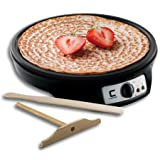 Chefman Electric Griddle & Crepe Maker, Precise Temperature Control for Perfect Crepes, Blintzes, Pancakes, Eggs, Bacon and more, 12