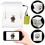 Portable Photography Studio 9 Inch - Mini Photo Studio Lightbox Product Photography Kit w/ LED Lights  Black & White Backdrop  3ft USB Cord (Photo B