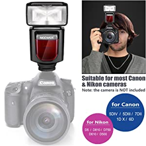 Neewer NW610 Manual Flash Speedlite With LCD Display for Canon Nikon