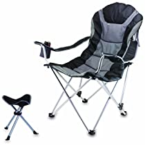 Reclining Picnic Time Camp Chair with Footrest