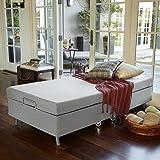 Zinus Memory Foam Resort Folding Guest Bed with Wheels, Standard Twin (Tamaño: Twin)