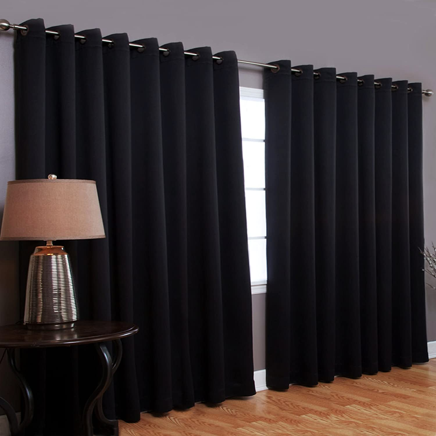 Best Home Fashion Thermal Blackout Curtain With Wide Width Grommet Top 100 By 9