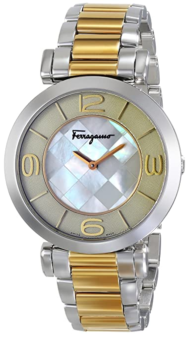 Salvatore Ferragamo Women's FG3060014 Gancino Two-Tone Watch with Link Bracelet -  womens watches - watches womens - ladies watches - watches for women