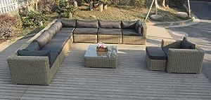 XXL Designer Lounge Rattan Gartenmöbel Garnitur ALMADAKundenbewertung und weitere Informationen