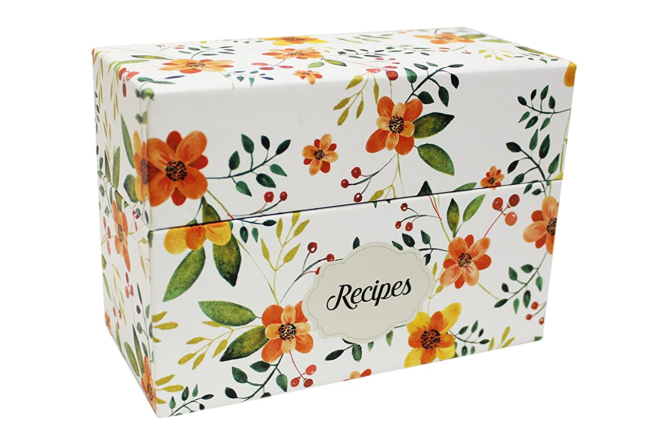 Vintage-Look Recipe Box Set With 50 Recipe Cards & 10 Blank Dividers | Holds Up To 200, 4x6 Cards | From Splendid Chef 1