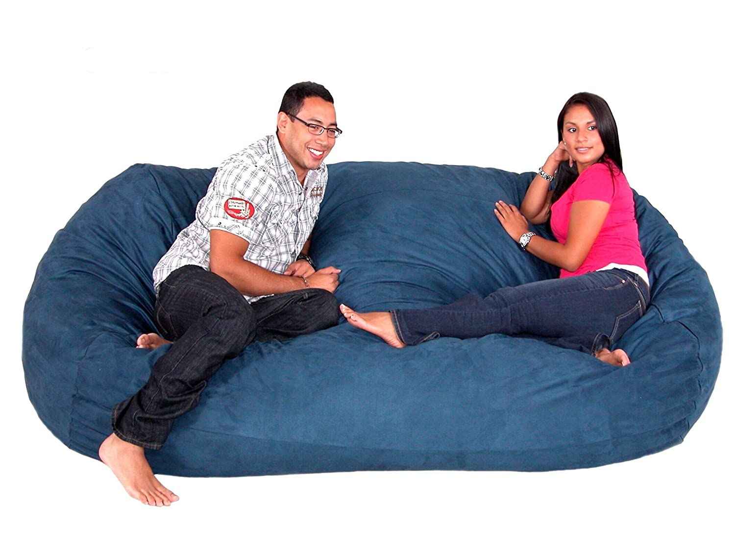 Cozy Sack 8-Feet Bean Bag Chair, X-Large, Navy
